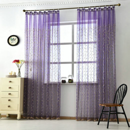 Wholesale Elegant Curtains For Windows - Luxury Water Ripples Lacework Sheer Elegant Window High Quality Tulle For Living Room Bedroom Kitchen Branches Flowers Decor Curtain