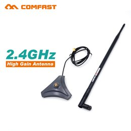 Wholesale Wifi Wireless Directional - Wholesale- Comfast 2.4G high gain wifi Antenna sma Antenna CF-ANT2410I-SAM 10 dbi Wireless wifi directional Antennas FOR WIFI ROUTER