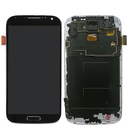 Wholesale S4 Lcd Assembly - High Quality For Samsung Galaxy S4 I9500 I9505 LCD Touch Digitizer Assembly with frame 1PCS Free Shipping and Repair Tool Kit