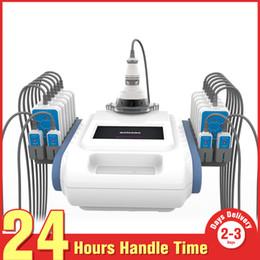 Wholesale Lipo Laser System - Body Sculpture Health Care 40K+RF Cavitation Ultrasound RF Lipo Laser Lypolysis LLLT 160mw Slimming System 12 Big+4 Small Pads