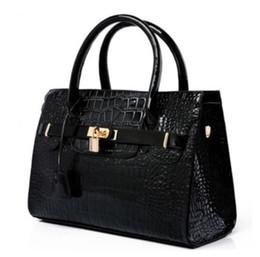 Wholesale Crocodile Hobo Bag - Luxury OL Lady Women Crocodile Pattern Handbag PU Leather Tote Hobo Shoulder Bag