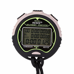 Wholesale Handheld Stopwatches - Wholesale- Handheld Sports Digital LCD Chronograph Counter Stopwatch Timer Clock Alarm Stop Watch For Running Fitness