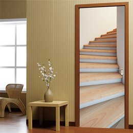 Wholesale Art Design Poster - Wall Stickers DIY Mural Bedroom Home Decor Poster PVC Creative Stairs Waterproof Imitation 3D Door Stickers Decal