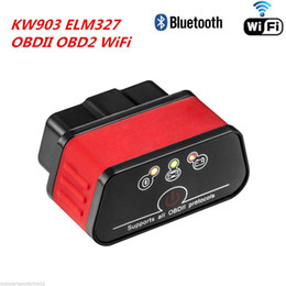 Wholesale android auto - KONNWEI KW903 ELM327 WiFi ODB2 Code Reader Diagnostic Scan Tool for Iphone Android PC Auto Code Scanner