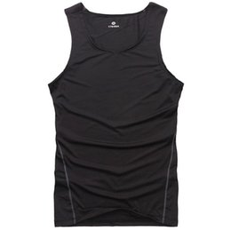Wholesale Tight Tank Top Undershirt - Wholesale- 7 Colors Men Bodybuilding Vest Tank Top Jersey Quick-dry Tights Tops Undershirt