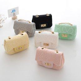 Wholesale Kids Candy Handbag - Fashion Lace Kid Girl Tote Bag Girls Designer Candy Color Messenger bags Child Stylish Handbag Toddler Shoulder Bag Kids Purse CM030