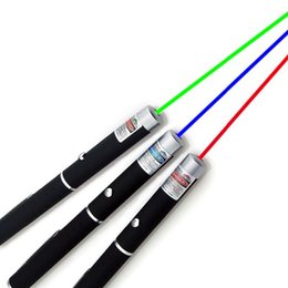 5mW 532nm 650nm 405nm Green Red Blue Light Laser Pointer Pen High Power For SOS Hunting Teaching 100pcs lot Free DHL Coupon
