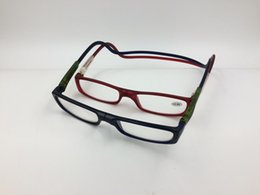 Wholesale Read Reader - Magnetic Reading Glasses Men Women Folding Flexible Hanging Neck presbyopic Reader glasses 20PCS LOT