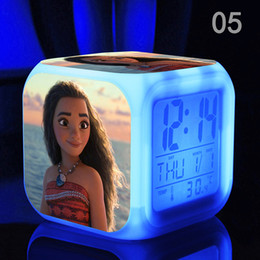 Wholesale Doll Clock - New Kids Personalized Gifts Moana Adventure Mo Ahna Mona Princess Doll Gift Anime Toy Figures Led light Toys for Children