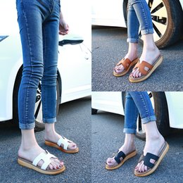Wholesale Thick Sole Buckle - The new shoes woman Sandals slippers flat thick soled sandals dragging a large platform of leisure shoes tide