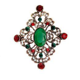 Wholesale British Decorations - 2017 Retro British crystal Brooch pin Plating Wedding Banquet Brooches Clothing decoration Luxury hollow diamond brooch fashion jewelry