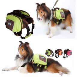 Wholesale Dog Saddle - Foldable Polyester Pet Saddle Bag Outward Hound Travel Camping Hiking Dog Back Pack 3 colors available