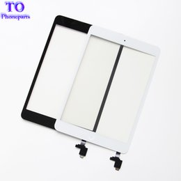 Wholesale Touch Panel For Ipad - For iPad mini 1 mini 2 Touch Screen Panel Digitizer Glass Panel Lens Sensor Repair + IC +Home Button Flex free shipping