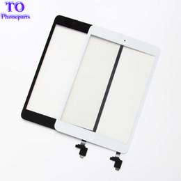 sensores domésticos Rebajas Para iPad mini 1 mini 2 Panel de pantalla táctil Digitalizador Panel de cristal Lente Sensor de reparación + IC + Botón de inicio Flex envío gratis