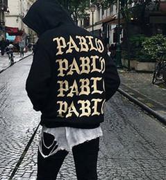 Wholesale Rocky Hoodie - I feel like pablo hoodie Men Hoodies long sleeve fleece sweatshirts Hiphop Rocky Hoodie Jacket Plus Size tracksuits
