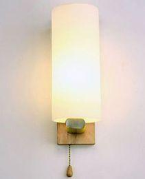 Wholesale Wall Lamp Bedroom Wood - Modern Creative Wall Lamp Solid Wood LED Energy Saving Lamp Bedroom Living Room Channel Corridor Hotel Wall Lamp