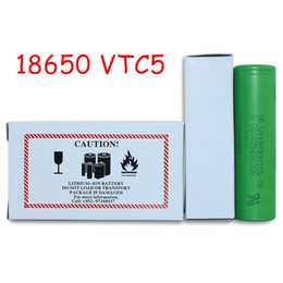 Wholesale E Cigarette Mod Batteries - High quality VTC5 lithium 18650 rechargeable battery VTC5 18650 battery for e cigarette mod e cig 18650 3.7V 2600mah DHL Shipping