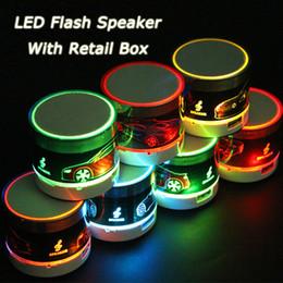 Wholesale Mini Bluetooth Speaker Radio Tf - Bluetooth Speakers Wholesale Mini Speaker LED Colored Flash Portable Wireless Stereo Support Radio TF Card USB Bluetooth Speakers