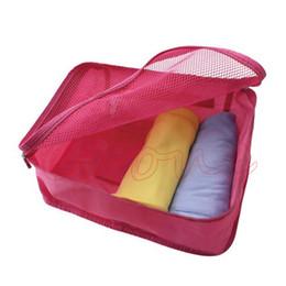 Wholesale Women S Fabric Handbags - Wholesale- Waterproof Travel Organizer Pouch Women Handbag Clothes Underwear Wash Storage Bag S L