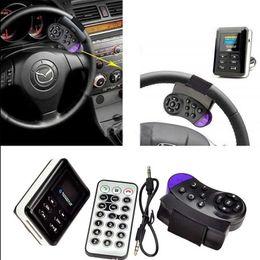 Kit bluetooth para volante online-Al por mayor-FM Transmisor Bluetooth Car Kit Manos libres altavoz Volante USB Car MP3 Player