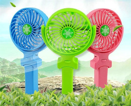 Wholesale Wholesale Handy Fan - NEW Handy Usb Fan Foldable Handle Mini Charging Electric Fans Snowflake Handheld Portable For Home Office Gifts RETAIL BOX DHL