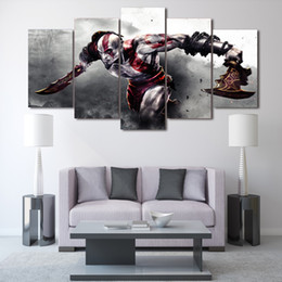Wholesale Cartoon Painting Games - Game God of War Painting on canvas room decoration HD print poster picture Unframed Oil Painting
