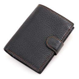 Wholesale Special Coins - Wholesale- New special retro practical Oil waxing leather wallet cowhide genuine leather wallet thickening vintage men wallet men's purse