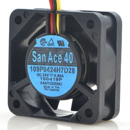 Wholesale 4cm Ball - SANYO 109P0424H7D28 24V 4CM 4015 for Fanuc CNC machine tool cooling fan