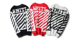 Wholesale Winter Warmer Fleece - Winter warm Off white hoodie Menhoodies long sleeve fleece the kanye hoodie sweatshirts red white black color