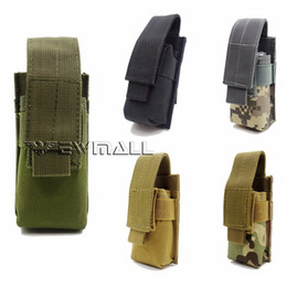Wholesale Nylon Flashlight Holster Pouch - Tactical Molle Utility Tools Knife OC Spray M5 Flashlight Pouch Holster