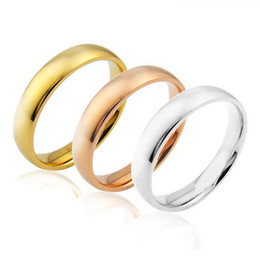 Wholesale Polish Rose Ring - TOU TOSO New Original design great quality stainless steel Smooth titanium ring, polishing jewelry wedding band rings gold silver rose gold