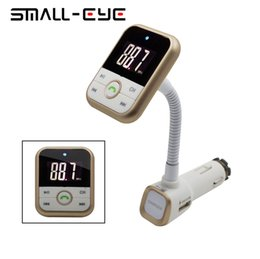 Wholesale Ipad Small - Wholesale-SMALL-EYE 5 in 1 LCD Dispaly hand free car kit with FM transmitter car charger suitable for mobile phone ipod iphone ipad 8186