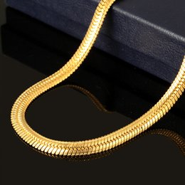 Wholesale Wheat Chain Steel - New Jewelry Men Women Sale 18K Real Gold Plated 4.5mm Chain Wheat Foxtail titanium steel stainless steel Necklace