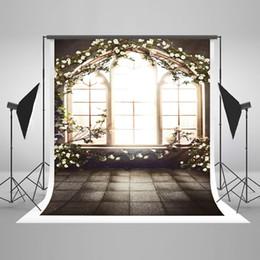 Canada 5x7ft (150x220cm) intérieur fenêtre photographie arrière-plans blanc fleurs printemps toile de fond pour mariage photo photographique Offre