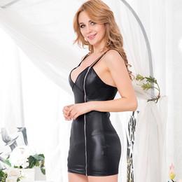Wholesale Sexy Leather Skirt Woman - Black sexy dress, leather skirt, mini OYR7858