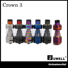 serbatoio corona originario Sconti Authentic Be 'Crown 3 Serbatoio con capacità 5,0 ml di e-Juice con Top Filling grandi nubi Crown III 100% originale