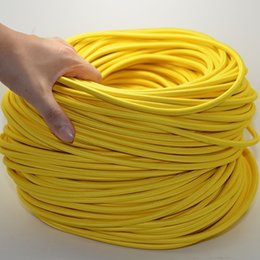Wholesale Cloth Electrical Cord - 8M 2*0.75 Yellow Edison Textile Cable Fabric Wire Chandelier Pendant Lamp Wires Braided Cloth Electrical Cable Vintage Lamp Cord