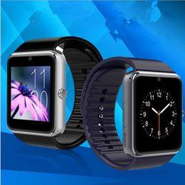 2020 android reloj inteligente nfc Bluetooth Smart Watch SIM Slot NFC Relojes de salud para Android Samsung IOS iphone podómetro Smartphone pulsera smartwatch GT08 DHL USZ101 rebajas android reloj inteligente nfc