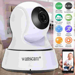 Wholesale Wholesale Wanscam Ip Camera - Wanscam HD 720P Wireless WiFi Pan Tilt Network IP Cloud Camera Infrared Night View Motion Detection for CCTV Surveillance Security S1099