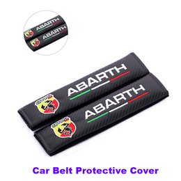 Wholesale Emblem Abarth - Best price car belts 2pcs Car Seat Safety Belt Cover Belts Padding Cover For ABarth Berlinetta 205A Berlinetta logo badge emblem