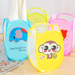 2019 coladores de fregadero de plastico Portable Folding Cartoon Clothing Case Laundry Basket Bag Hamper Baskets For Toys Dirty Clothes Garment kids Clothing Storage