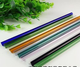 Wholesale Heat Pipe Tubes - Special hard heat-resistant glass straw color tube, glass bongs accessories, glass pipe fittings