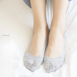 Wholesale Cute Girl Lingerie Pink - Girls lace socks summer home ladies lingerie socks four seasons leisure spring and summer sports multi-color cute lace