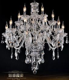 lâmpada pingente de ferro forjado moderna Desconto Principais lustres de cristal k9 de cristal Modern Light Chandelier iluminação quarto sala de jantar luz lustre de cristal