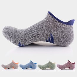 Wholesale Wearable Art - Professional Spring Summer Men Sports Socks Thick Cotton Quick Drying Anti-skid Quality Business Breathable Wearable Retro Casual Sock Meias
