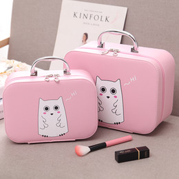 Wholesale large professional makeup cases - South Korean cosmetic case large and cute professional portable travel waterproof large capacity carry a makeup bag