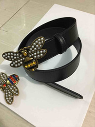 Wholesale Girls Fashion Imported - Fashion double chain buckle men belts high quality imported real leather toad pattern design designer belt brand waistbands with out box