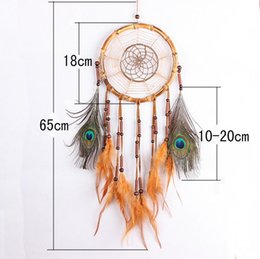 Wholesale 2017 New Dreamcatcher Wind Chimes with Feather Dream Catcher Wall Hanging Decoration Pendant Home Decor Ornament Gift