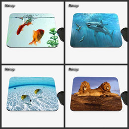 Wholesale High Quality Computer Mouse - Marine Shark and Goldfish Custom Image, High Quality Anti-sliding Fashion Computer and Laptop Computer Mouse Pad