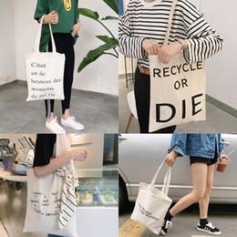 Wholesale Art Canvas Letters - New 37*40cm Canvas Zipper Letters Printed Art Fresh Fashion Totes Women Shopping Bag Lady Shoulder Bags